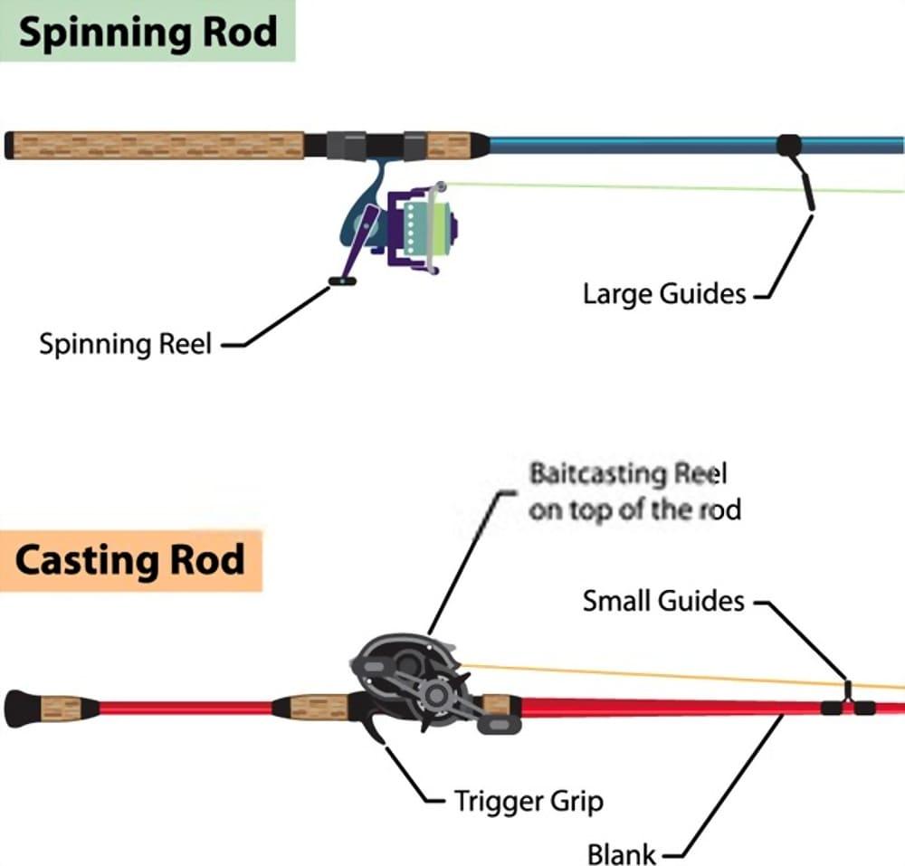 Comparison Casting Vs Spinning Rod
