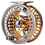 Sougayilang Fly Fishing Reel Large Arbor 2+1 BB with CNC-machined Aluminum Alloy Body