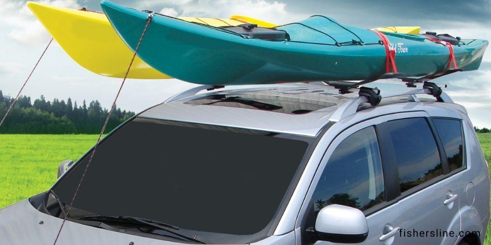 Transport-Two-Kayaks-on-Roof-Racks